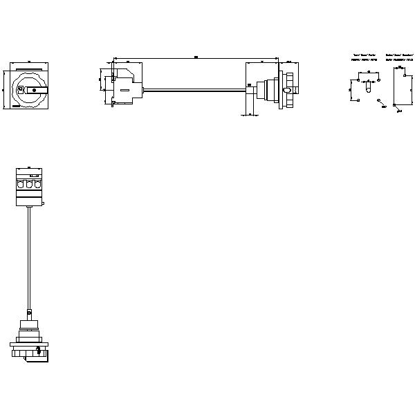 SENTRON, 3LD switch disconnector, main switch, 3pole, Iu: 63A, Operational power G_I202_XX_32971 2D