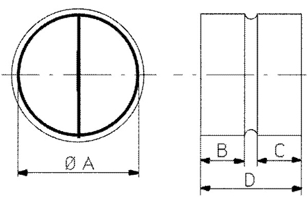 Accessory - Back draft shutter, type CAR-80   Drawing 2D