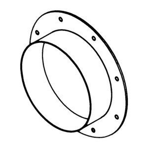 Accessory - Flange, type JBR-300 Drawing (iso) 2D