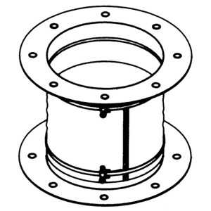 Accessory - Flexible coupling, type JAE-300 Drawing (iso) 2D