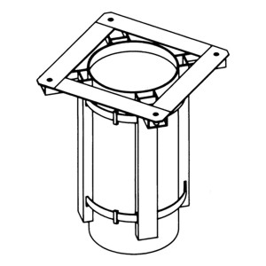Accessory - Adapter for circular duct, type JCC-300 Drawing (iso) 2D