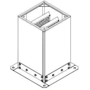 Accessory - Acoustic up stand, type JAA-300 Drawing (iso) 2D