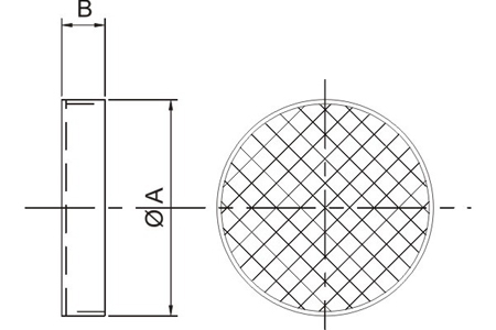 Accessory - Protection guard, type DEF.CIR12 Drawing 2D