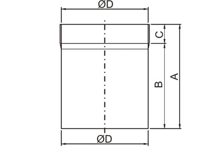 Accessory - Circular damper, type CARP-125-N Drawing 2D