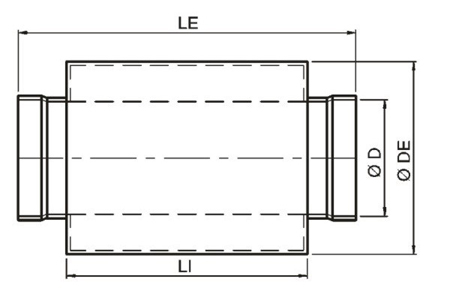 Accessory - Circular damper, type SILP-125 Drawing 2D