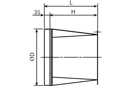 Accessory - Rectangular/circular connection flange, type KBBI-355 Drawing 2D