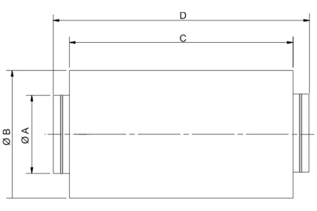 Accessory - Sound attenuator, type SIL-125 Drawing 2D