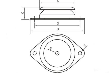 Accessory - Mounting accessory, type  PAVZ-60   Drawing 2D