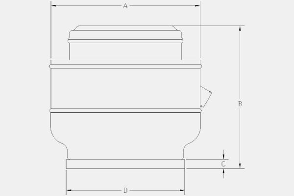 CRVD-10-1200RPM Technical drawing 2D