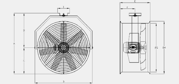 RBC-400 Technical drawing 2D