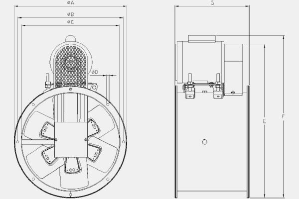 TTB-250 Technical drawing 2D