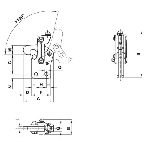 LSG01 Dimensioned drawing 2D