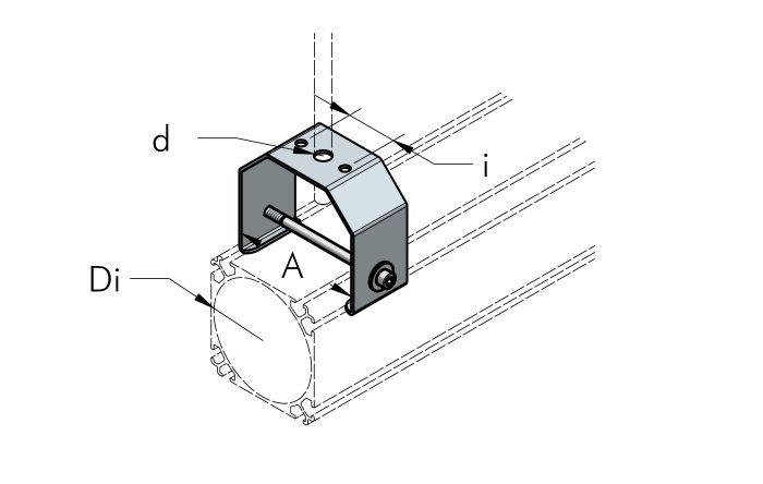 HANGING BRACKET Dimensioned drawing 2D