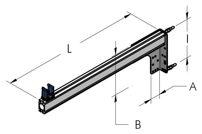 SUPPORT BRACKET, COMPLETE Dimensioned drawing 2D