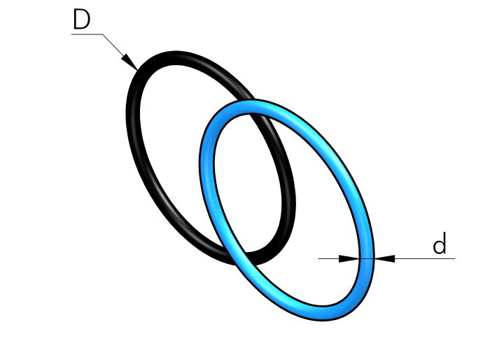 O-RING SEAL IN NBR70 Dimensioned drawing 2D