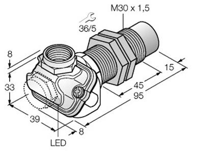 3d models turck inductive sensor m12 m18 m30