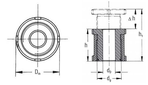 patented - Precision Leveller HVS Dimensional drawing 2D