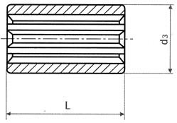 Splined Sleeves acc. to DIN 5463 / ISO 14 (45 S 20 K) Dimensional drawing 2D