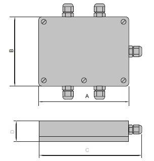 Junction Box JX-4 Dimension 2D